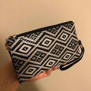 NEW Double Zipper Wristlet/Clutch/Wallet